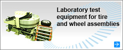 Laboratory test equipment for tire and wheel assemblies